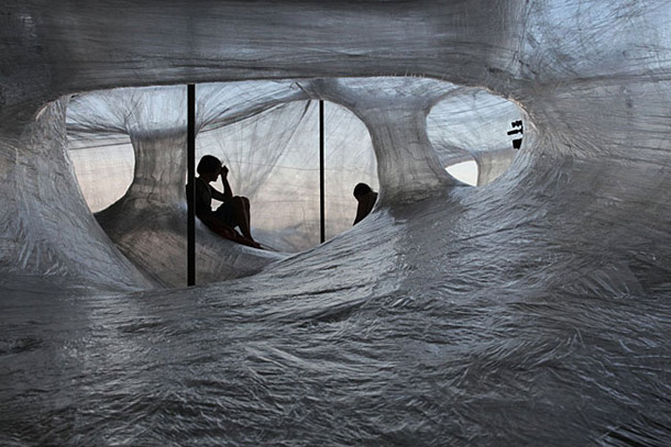 Packing Tape Design Installation   Numen/For Use    Yellowtrace