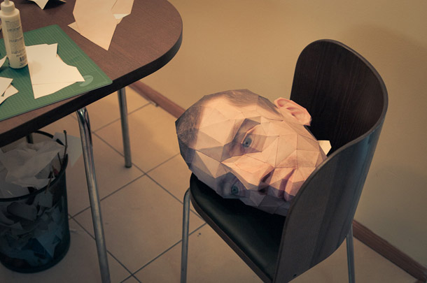 Papercraft Self Portrait | Eric Testroete.