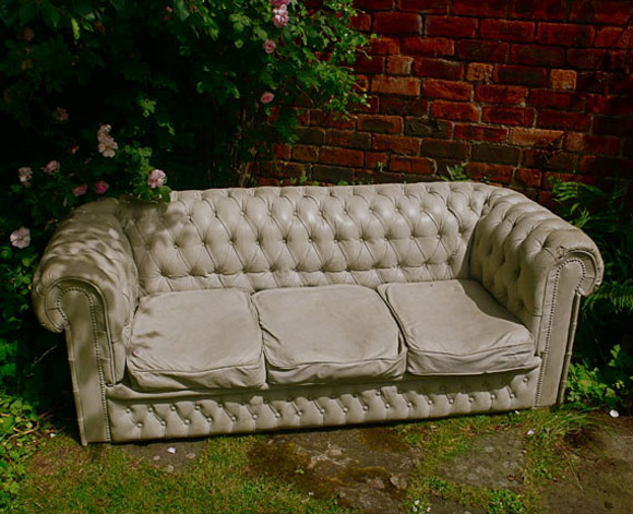 Concrete Chesterfield Sofa.