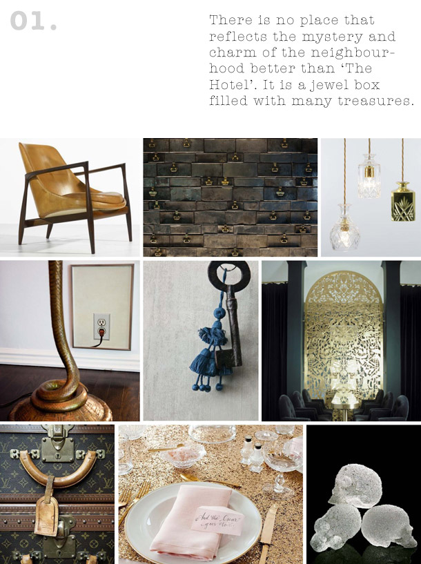Concept Mood Boards Bohemian Boutique Hotel Yellowtrace