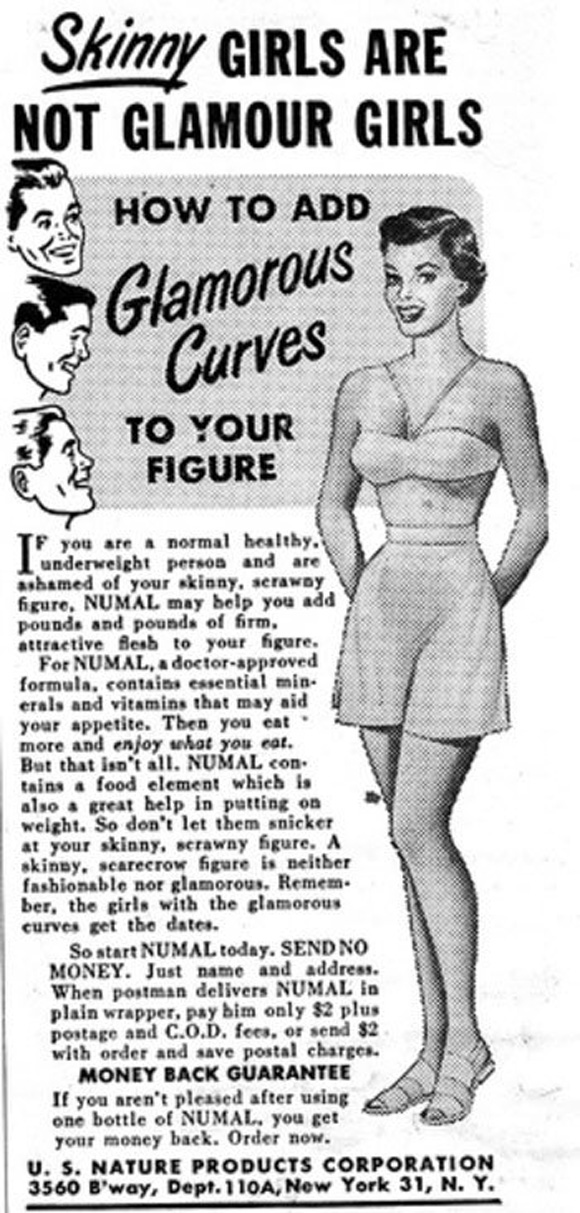 advertising promotes skinniness as being sexually appealing Simply put, sex in advertising is the use of sexually provocative or erotic imagery (or sounds, suggestions, and subliminal messages) that are specifically designed to arouse interest in a particular product, service or brand.