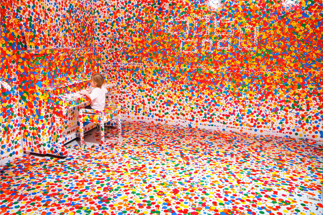 the obliteration room by yayoi kusama at goma in brisbane