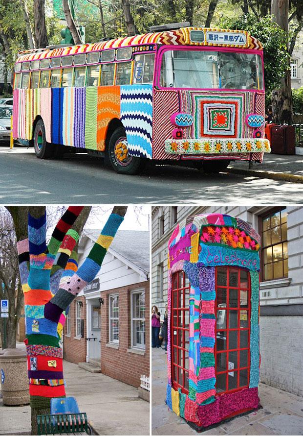 Graffiti Knitting Epidemic : Design free thursday yarn bombing aka graffiti knitting