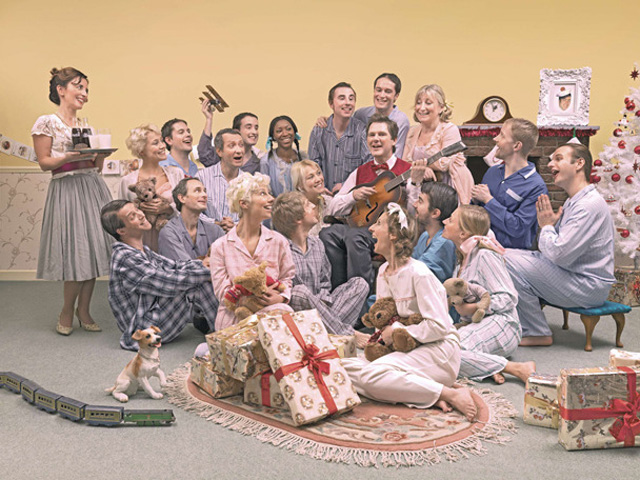 Design free thursday isobel agency company christmas cards norman rockwell meets the sound of music 2007 possibly the best and most hilarious annual corporate christmas card reheart