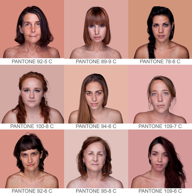 Design Free Thursday Humanae Pantone Skin Colour Palette