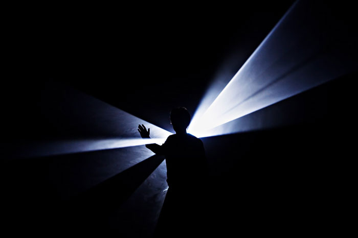 New York Based Artist Anthony McCall Creates Striking Sculptural Installations That Explore The Concept Of Solid Light Which Overtakes Greater Darkened