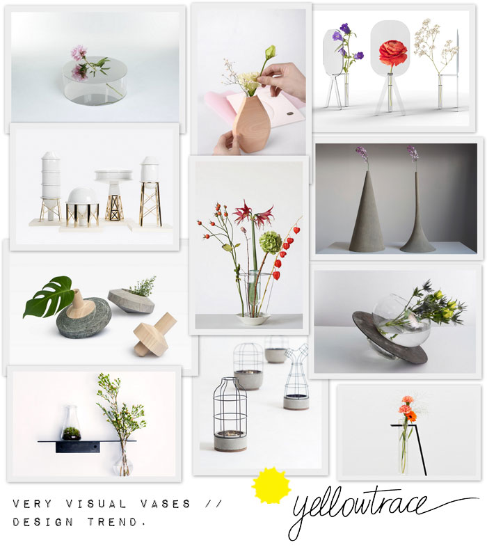 Very Visual Vases // Design Trend.