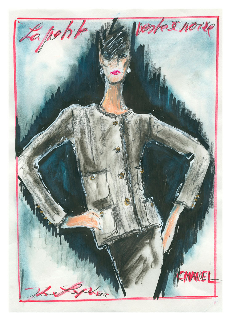 Karl Lagerfeld S Sketch Of Chanel S Little Black Jacket