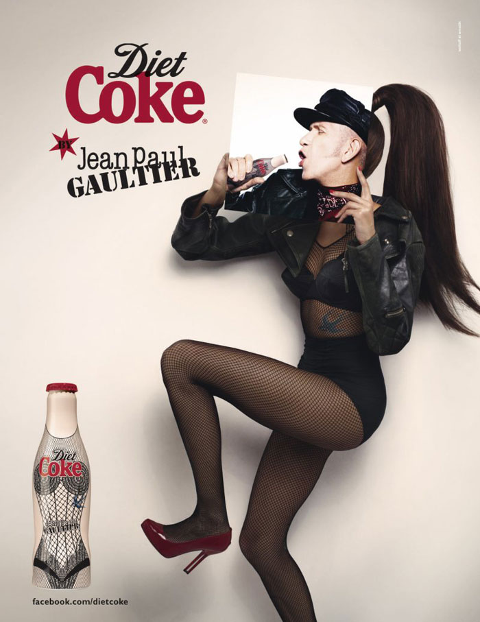 Design Free Thursday // Jean Paul Gaultier for Diet Coke.