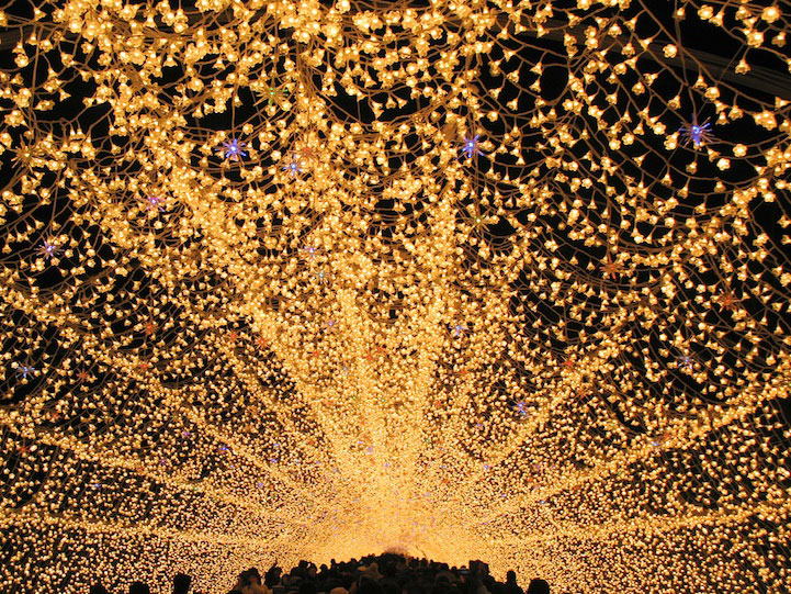 Winter Illuminations at Nabana no Sato, Japan.