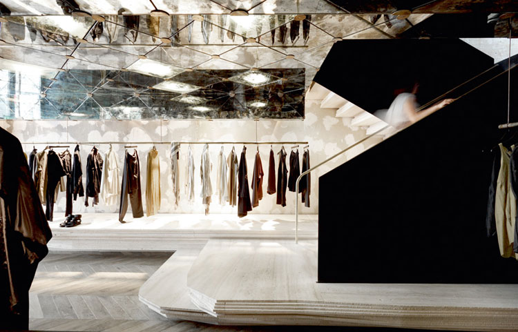 Damir Doma Store in Paris by March Studio.