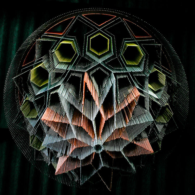 """Mandala No.1″ Illuminated Light Sculpture by Willowlamp."