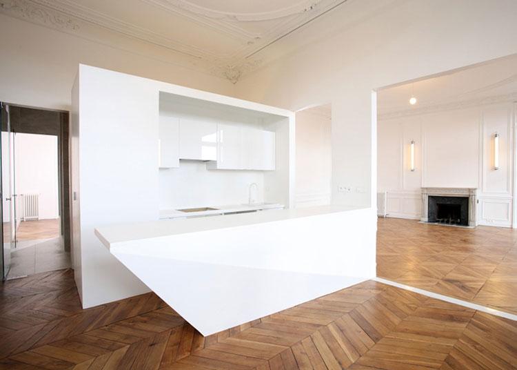 Apartment, renovation, heritage, interior design, kitchen, joinery, white