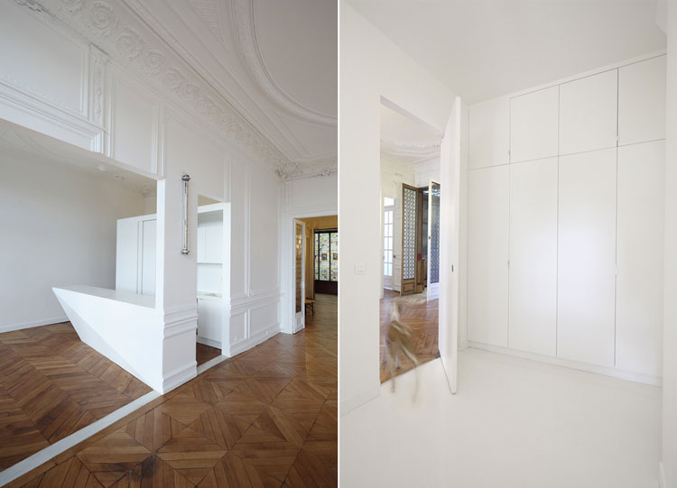 Apartment, renovation, white, wall panelling, joinery