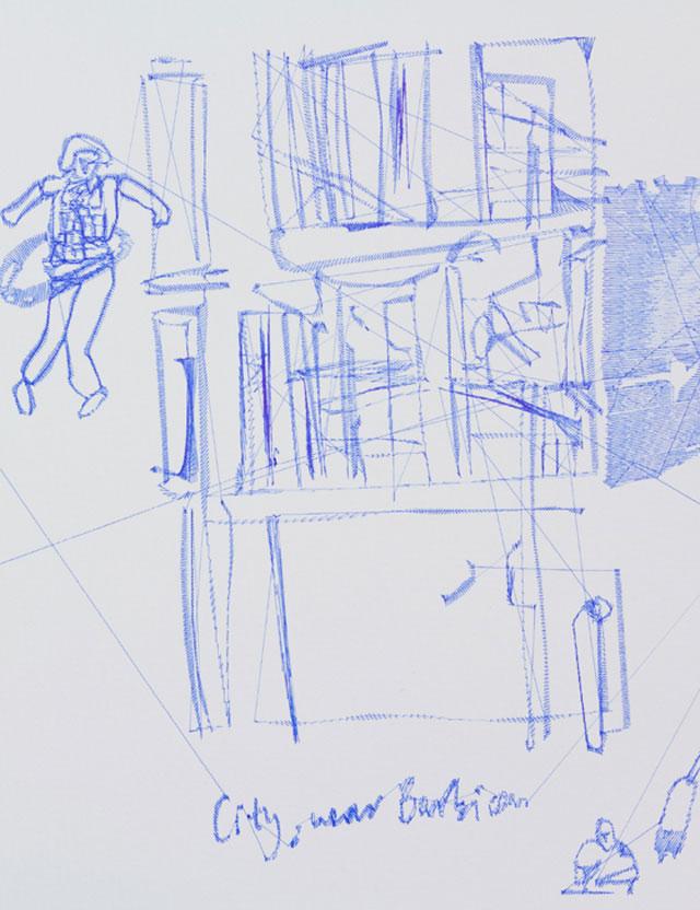 Pens & Needles // CUSTHOM vs Ink Illustration, detail.