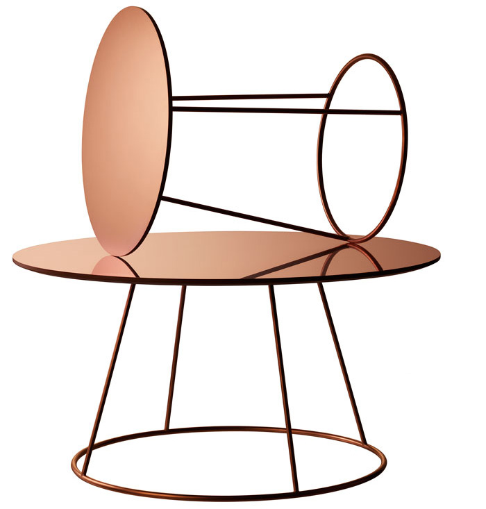 Copper Breeze Table by Monica Forster for Swedese | Yellowtrace.