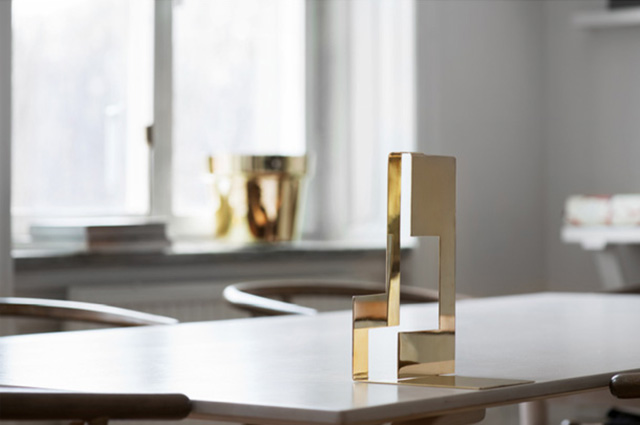 Folkform Brassware Bookends for Skultuna | Yellowtrace.