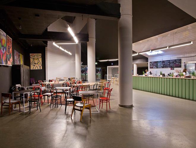 interior design for cinema foyer in poland