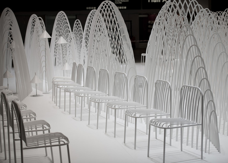 Snow-capped mountain installation by Nendo at Stockholm Furniture Fair | Yellowtrace.
