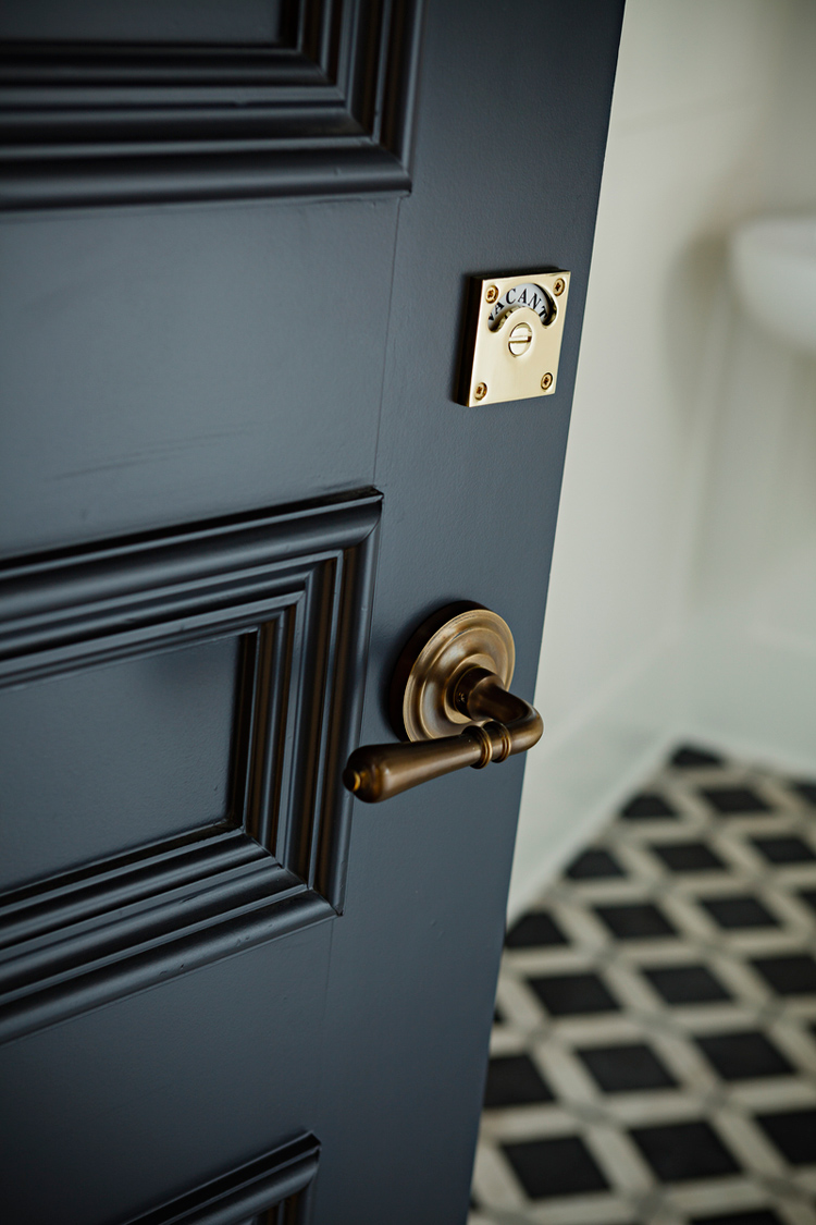 styling, art direction, black door, brass, gold