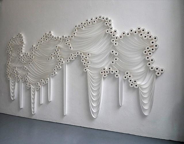 Toilet Paper Installation, Sakir Gökcebag