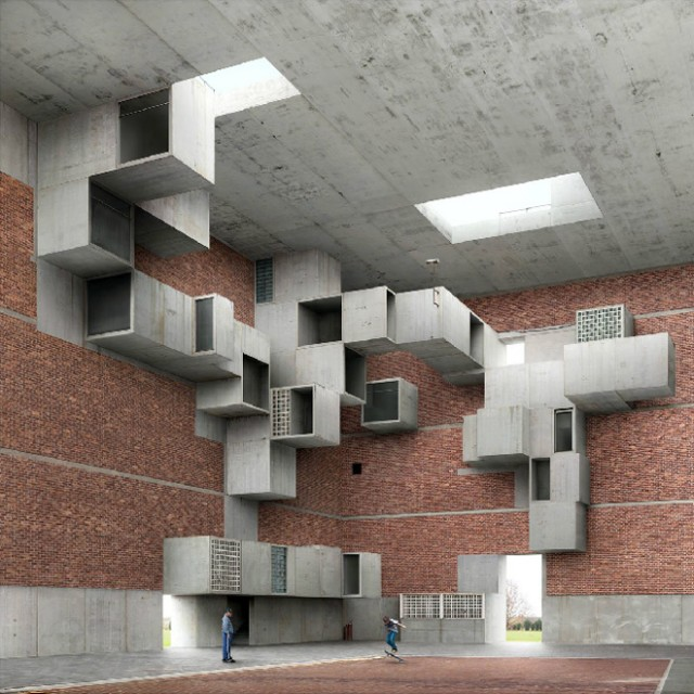Fictional Architecture by Filip Dujardin, via Yellowtrace.