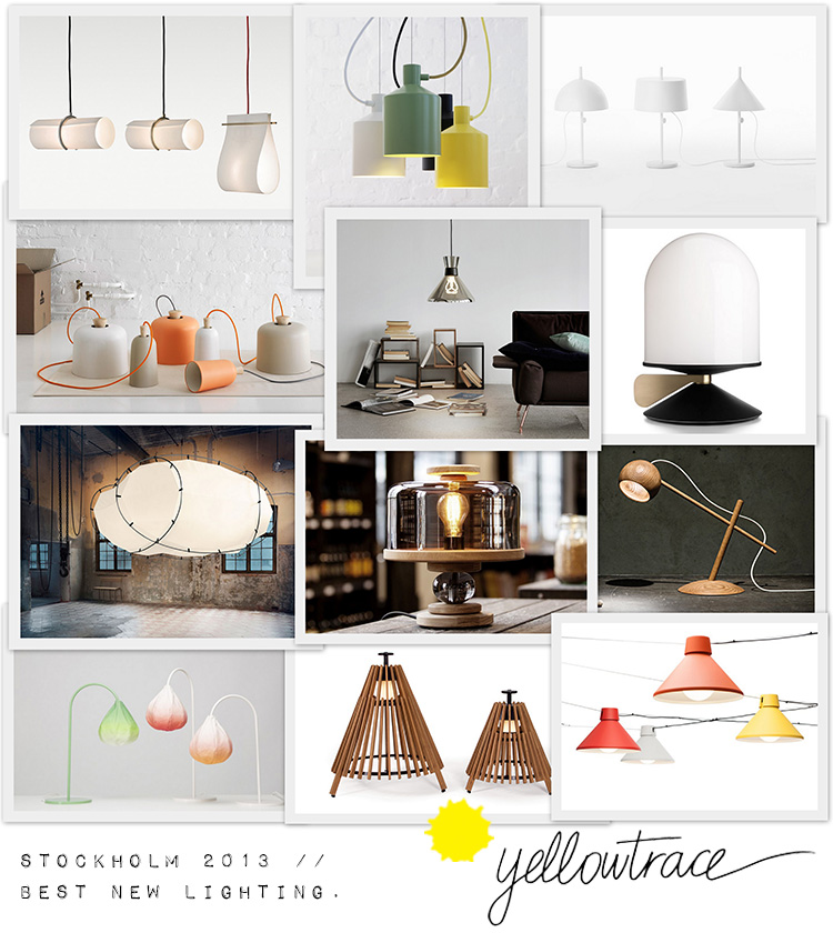Stockholm Design Week 2013, Best New Lighting Curated by Yellowtrace.