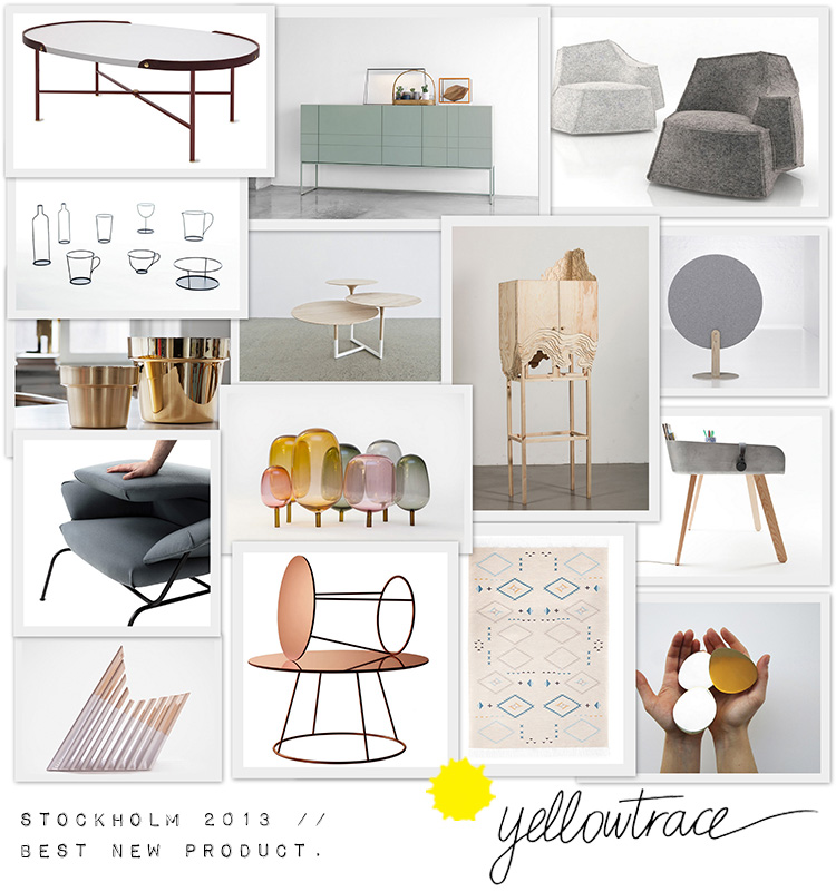 Stockholm Design Week 2013, Best New Furniture & Product Curated by Yellowtrace.