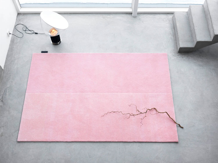 Asplund Furniture, rug, pink, concrete floor, product styling