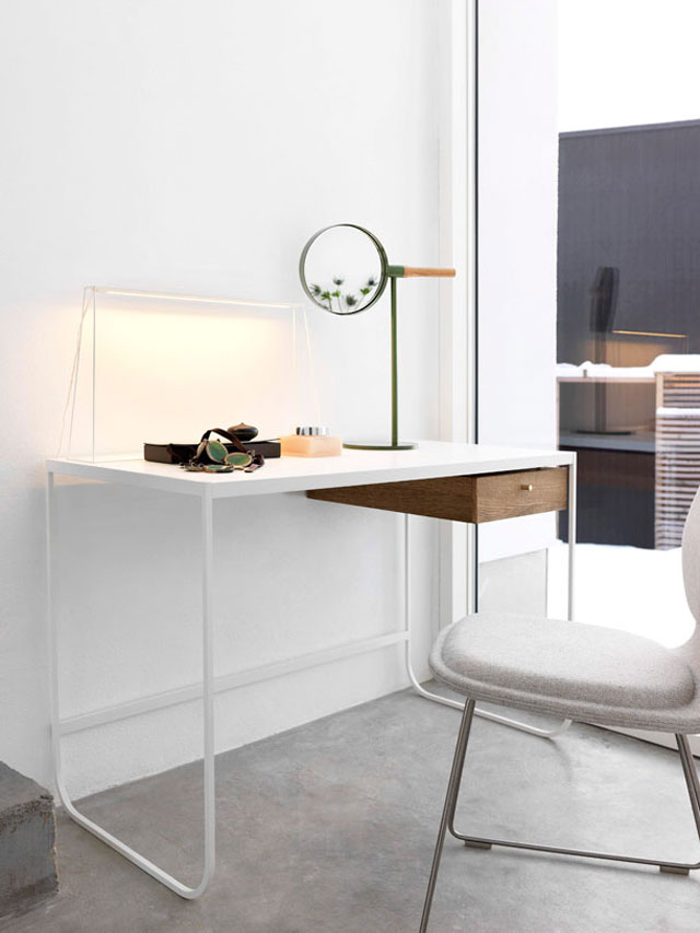 Asplund Furniture, TATI desk, MEMIRROR table, product styling