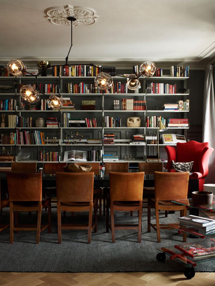 ett hem hotel stockholm library and dining room