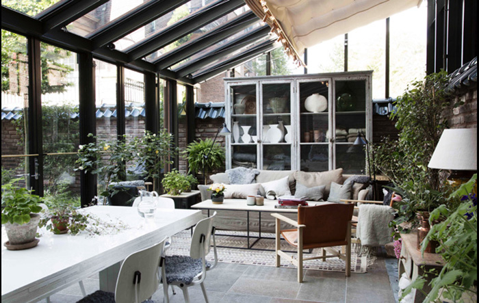 courtyard and living areas
