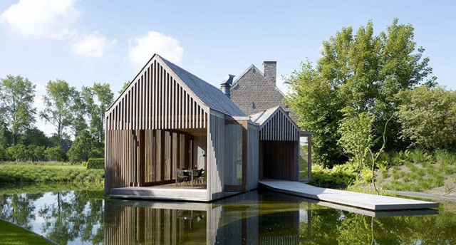 House Extension in Belgium by Wim Goes Architectuur.