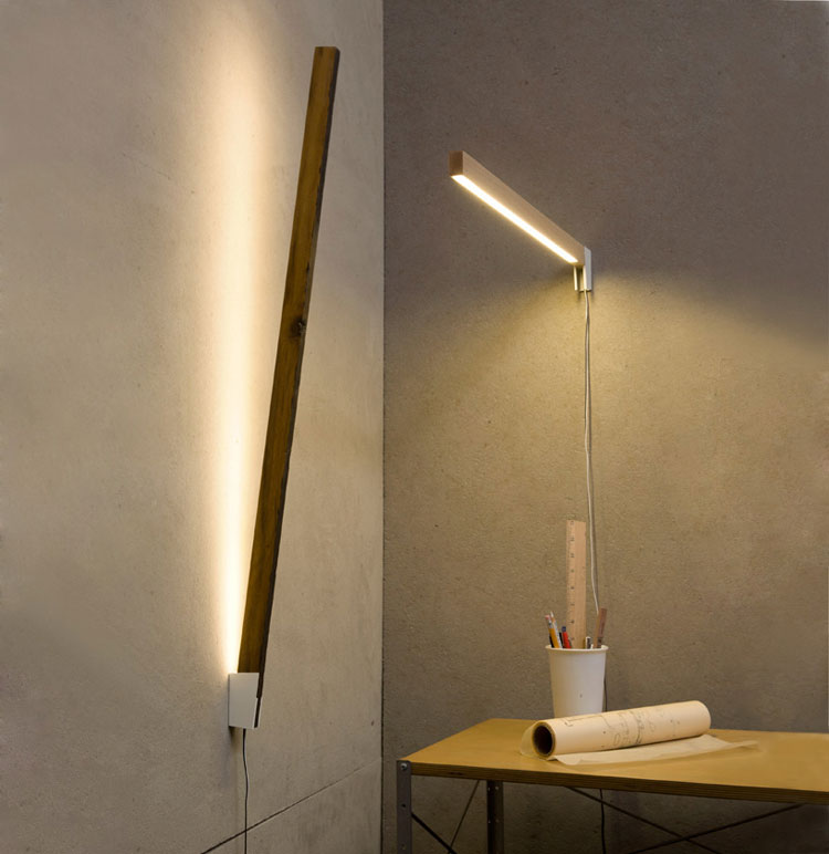 Stickbulb lamp by RUX design, with roll of yellowtrace on the desk - woohoo!
