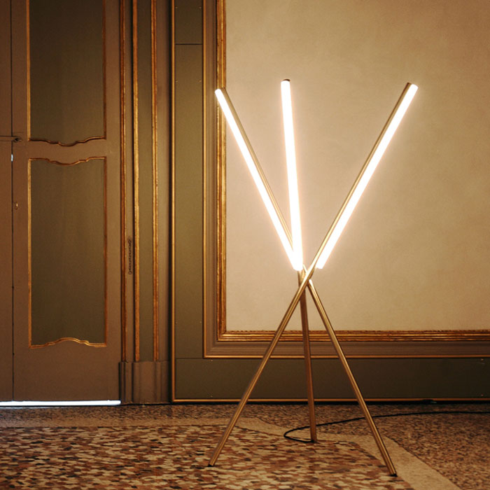 Lit Lines floor lamp by Michael Anastassiades