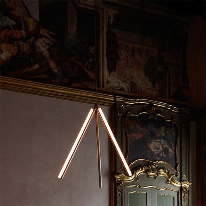 Lit Lines pendant by Michael Anastassiades