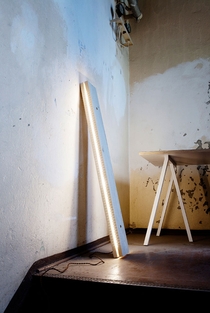 Plank by northern lighting
