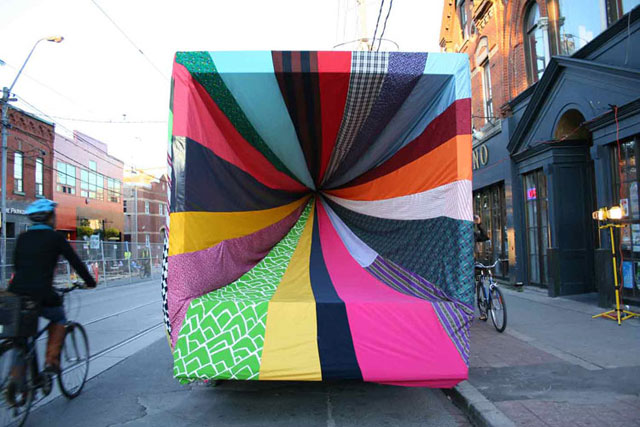 Chromatic Hi Five by Amanda Browder, textile installation, art, colour, pattern