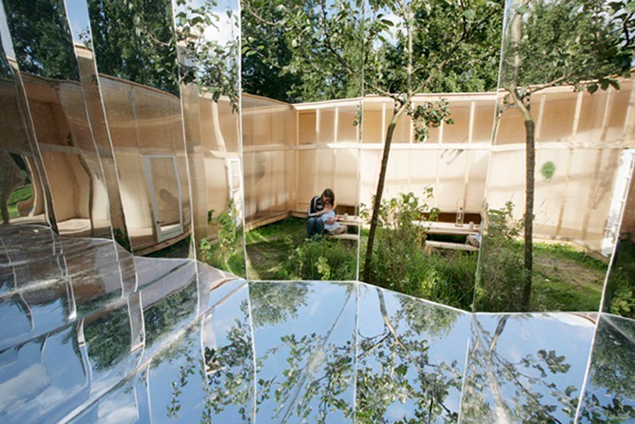 Archive artist pavilion by Bureau Lada | Yellowtrace.