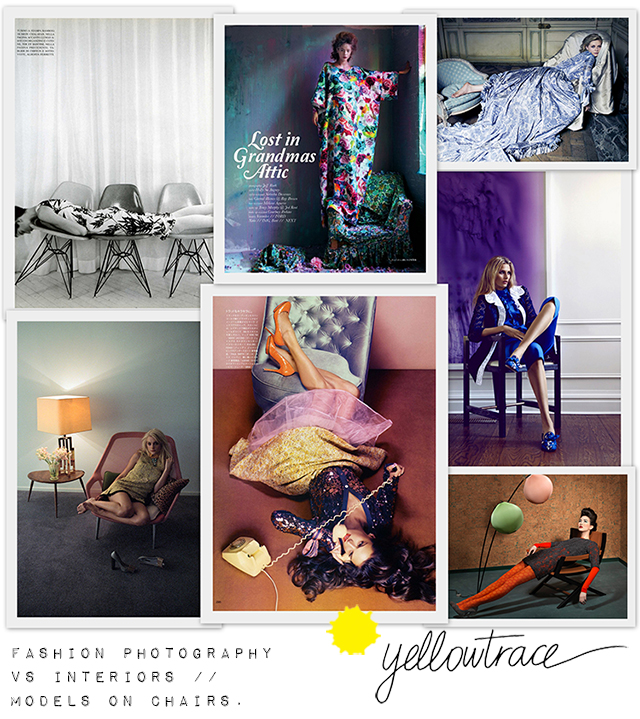 Fashion Photography vs Amazing Interiors – Models on Chairs | Yellowtrace.