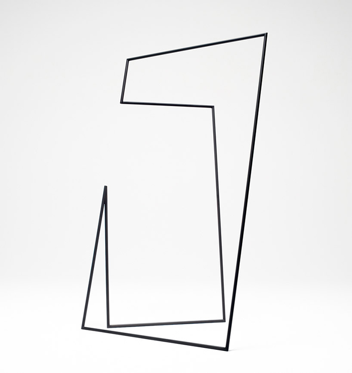 Thin black lines hanger rack by by Nendo | Yellowtrace.