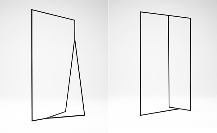 Thin black lines hanger racks by by Nendo | Yellowtrace.