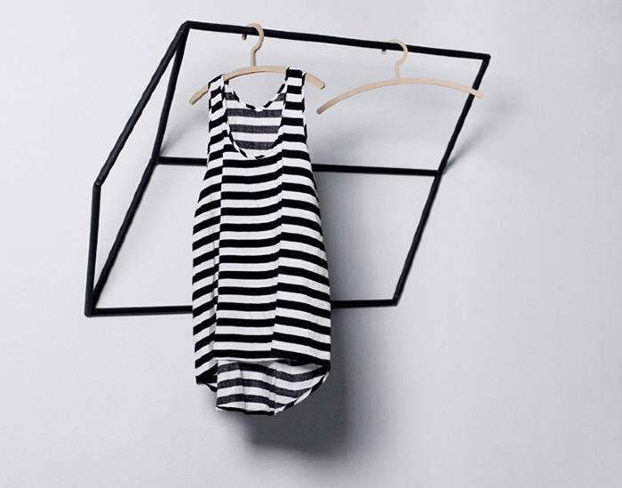 Tilt clothes rack by Tina Schmid | Yellowtrace.