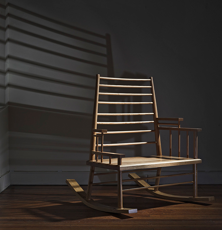 Broached Commissions // Broached East, Chinamans File Rocking Chair by Trent Jansen | Yellowtrace.