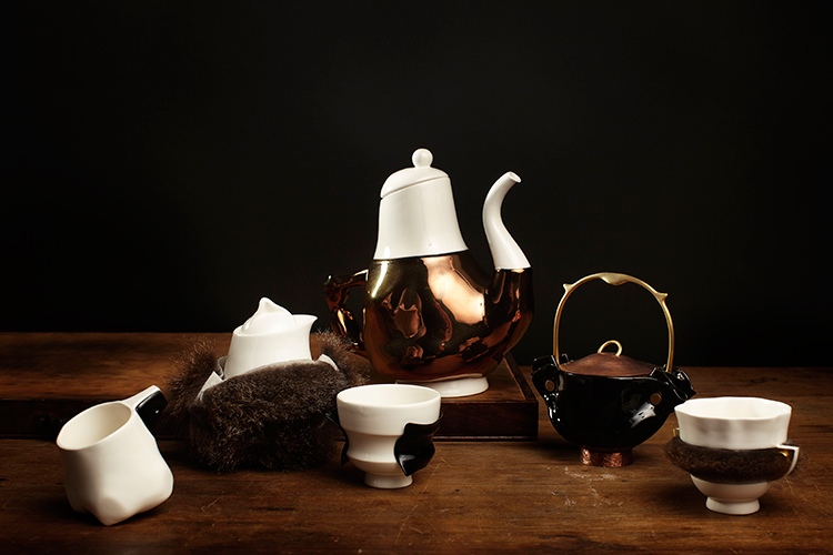 Broached Commissions // Broached East, Briggs Family Tea Service by Trent Jensen | Yellowtrace.