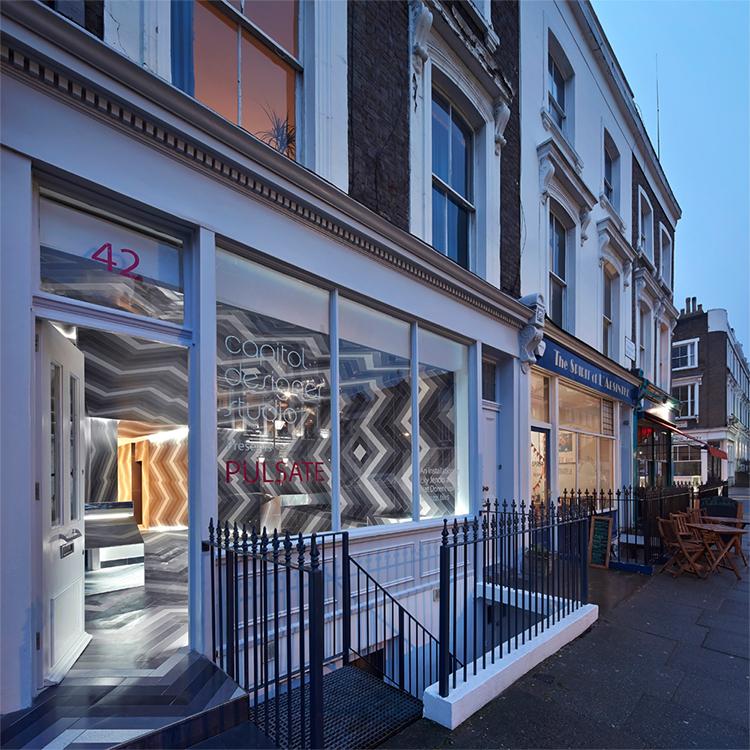 Pulsate installation design by Lily Jencks & Nathanael Dorent at Capitol Designer Studio, London   Yellowtrace.