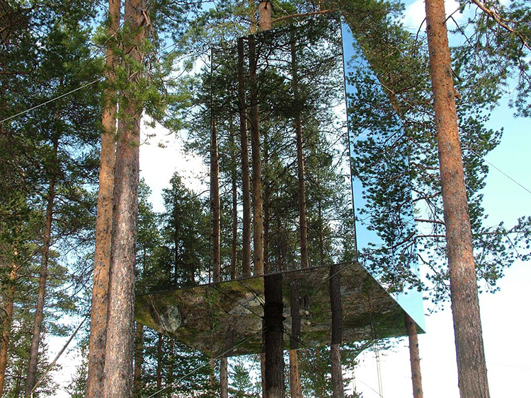 Treehotel Hotel - Mirrorcube | Yellowtrace.