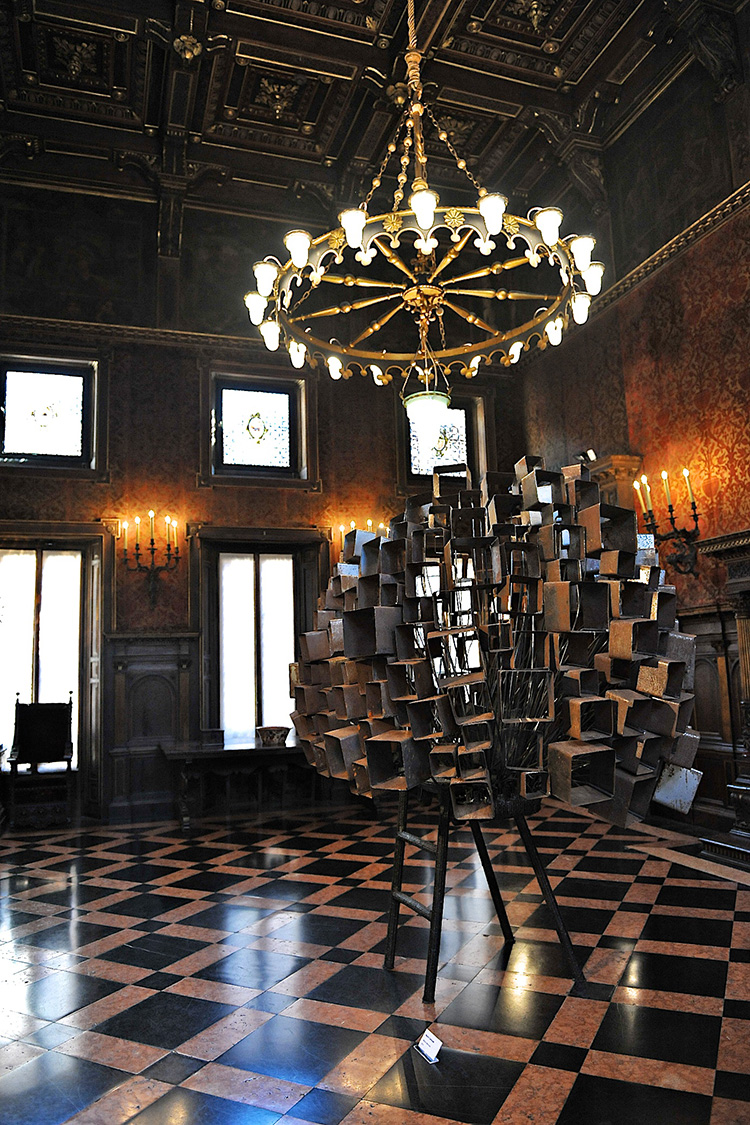 Museo Bagatti Valsecci Milan, Nacho Carbonell sculpture | Photo by Nick Hughes for Yellowtrace.