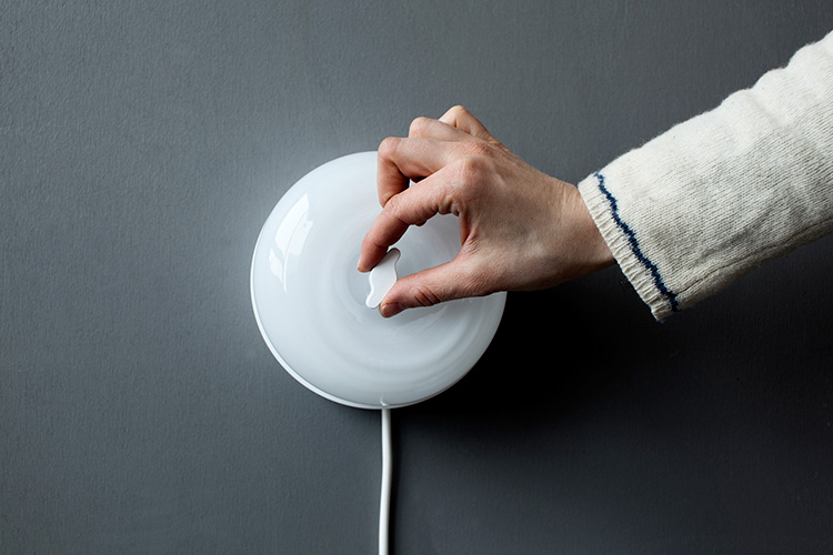 SWITCH wall light by Caroline Olsson Salone Satellite 2013 | Yellowtrace.
