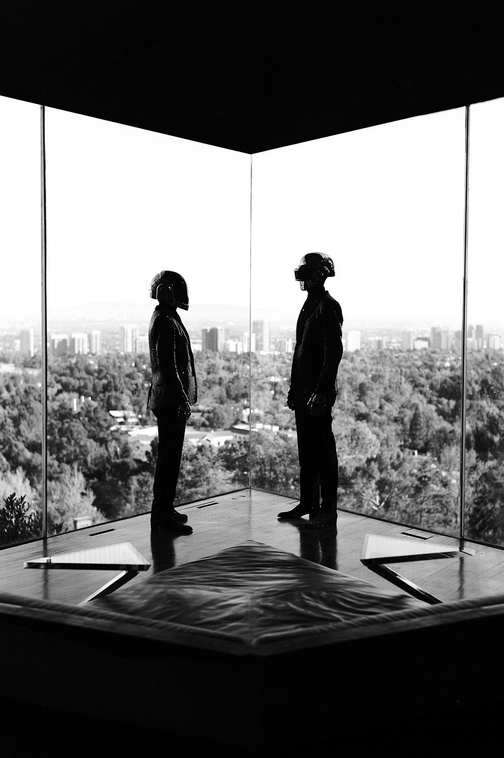 Daft Punk at Lautner's Sheats Goldstein Residence in LA.